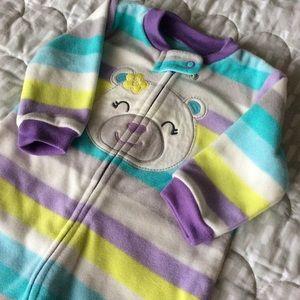 $3 BUNDLED ~ EUC Carter's zip-up fleece sleeper